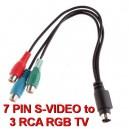 Кабель перехідник 7-Pin S-Video в 3 RCA RGB