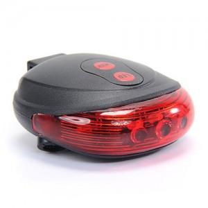 Велосипедный фонарь задний 5 LED + 2 Laser